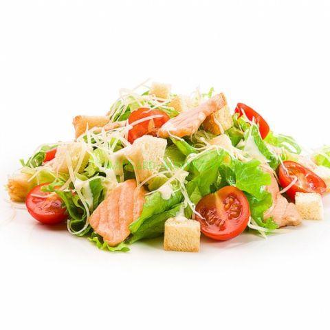 Овощной микс с лососем