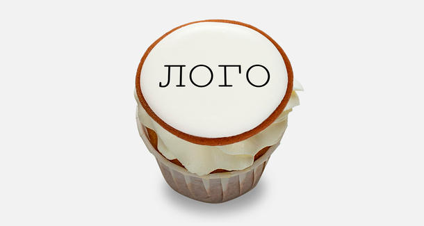 Десерты - пирожные с вашим логотипом