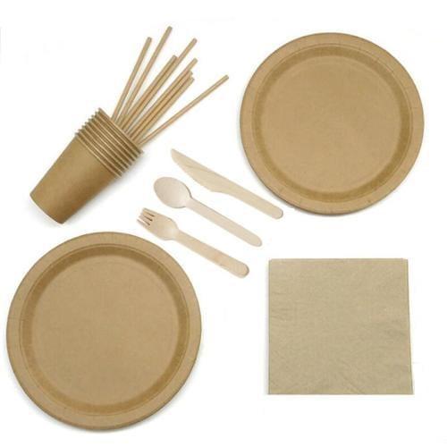 Набор посуды Premium крафт